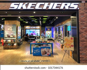 PETALING JAYA, MALAYSIA - January 25, 2018: Skechers store at One Utama Shopping Mall. Skechers USA Inc. is an American lifestyle & performance footwear company for men, women and children.