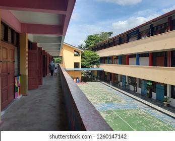 petaling jaya, selangor, malaysia - 17 December 2018 : Public School building exterior in Sekolah Kebangsaan Sri Kelana, Kelana Jaya.