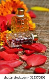 Petals perfume bottles