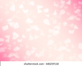 petals pink in soft blur background
