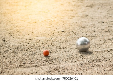 Petanque balls in Petanque game tournament