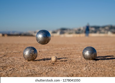 Petanque, French balls game - Perfect template with space to insert text