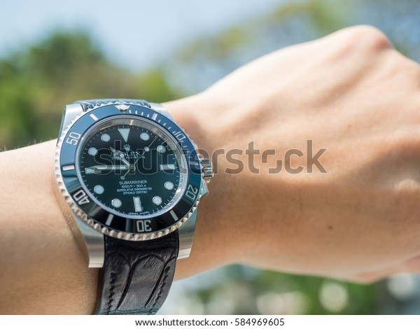 Petchaburi February 18 Rolex Submariner No Stock Photo (Edit