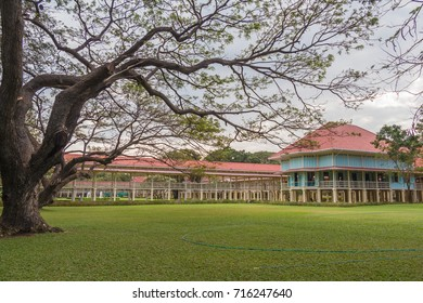 PETCHABURI, THAILAND, JAN 2013 - The Mrigadayavan Palace, Former palace of King Rama 6 of Thailand.