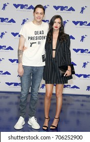 Pete Davidson and Cazzie David at the 2017 MTV Video Music Awards held at the Forum in Inglewood, USA on August 27, 2017.