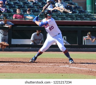 Peter Alonso outfielders for the Scottsdale Scorpions at Scottsdale Stadium in Scottsdale,AZ/USA November 2,2018.