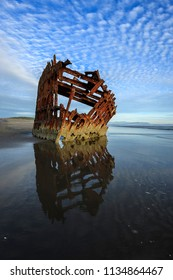 The Peter Iredale shipwreck near Astoria Oregon taken near sunset.