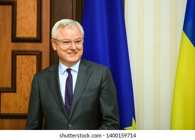 "Peter M. Wagner, Head of ""Support Group for Ukraine"" at European Commission, during visit to Kyiv, Ukraine. April 2018"