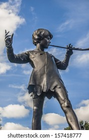Peter Pan statue at Sefton Park, Liverpool.