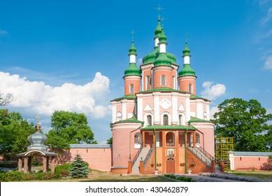Peter and Paul Church, (18th century) Gustynsky Monastery in Chernihiv region. Ukraine
