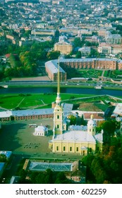 The Peter and Paul Fortress - magnified aerial view [#4903]