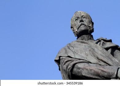 Peter Preradovi poet and translator - a monument Zagreb Croatia Balkan Europe