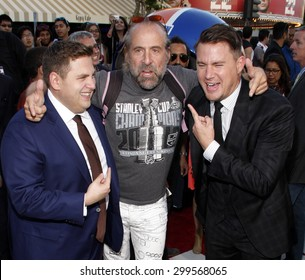 """Peter Stormare, Channing Tatum and Jonah Hill at the Los Angeles premiere of """"22 Jump Street"""" held at the Regency Village Theatre in Los Angeles, United States, 100614."""