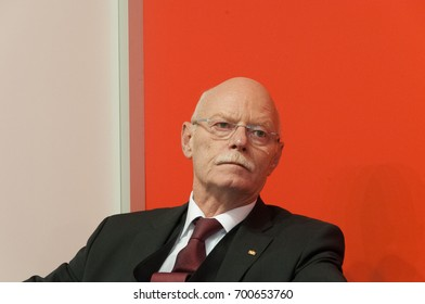 Peter Struck (1943-2012), german politician (SPD), at the Frankfurt Bookfair / Buchmesse Frankfurt 2010 in Frankfurt am Main, Germany