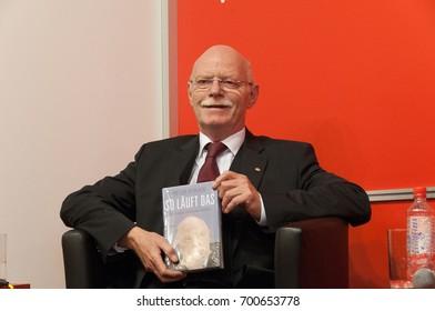 Peter Struck (1943-2012), german politician (SPD), at the Frankfurt Bookfair / Buchmesse Frankfurt 2010 in Frankfurt am Main, Germany