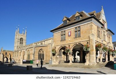PETERBOROUGH, CAMBRIDGESHIRE/UK - September 27, 2018. Guildhall, Cathedral Square, Peterborough, Cambridgeshire, England