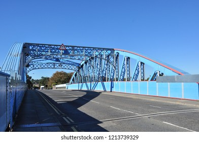 PETERBOROUGH, CAMBRIDGESHIRE/UK - September 27, 2018. Crescent Bridge (road bridge over the railway), Peterborough, Cambridgeshire, England