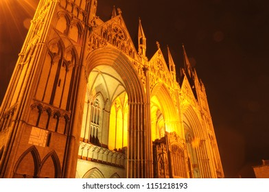 Peterborough Cathedral At Night