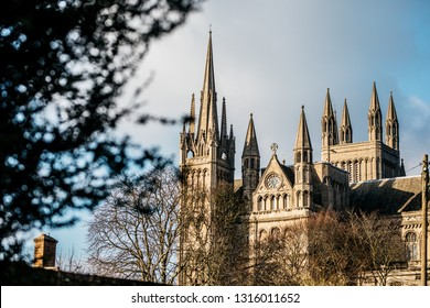 Peterborough Cathedral, properly the Cathedral Church of St Peter, St Paul and St Andrew – also known as Saint Peter's Cathedral in Peterborough , United kingdom