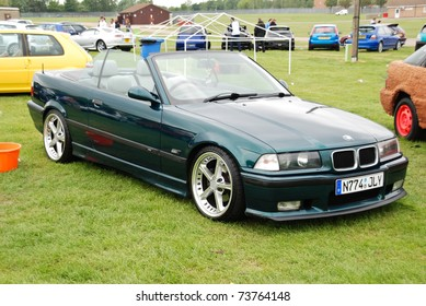 PETERBOROUGH, ENGLAND - May 24: Green BMW M3 Convertible on May 24, 2008 in Peterborough, England, UK.  Peterborough Show Ground is Host to Annual Modified Nationals Automotive Show