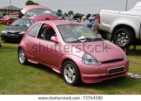 Peterborough England May  Pink Ford Ka On May   In