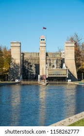 The Peterborough hydraulic lift locks are located on the Trent Severn waterway in  Peterborough Ontario and are a National historic site of Canada.