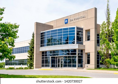 Peterborough, Ontario, Canada - June 08, 2019: GM Financial office building in Peterborough, Ontario, Canada. GM Financial is the wholly owned captive finance subsidiary of General Motors.