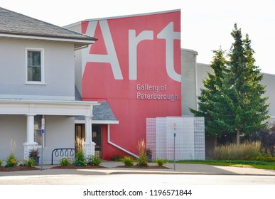 Peterborough, Ontario, Canada - September 7, 2018: Exterior of Art Gallery of Peterborough.
