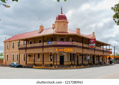PETERBOROUGH, SOUTH AUSTRALIA, AUSTRALIA - 23 OCTOBER 2010: Historic Railway Hotel in the outback railway town of Peterborough.