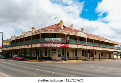 PETERBOROUGH, SOUTH AUSTRALIA, AUSTRALIA - 23 OCTOBER 2010: The rambling old Peterborough Hotel in the outback railway town of Peterborough is an icon of a bygone age.
