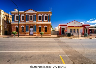 Peterborough, South Australia, Australia - Dec 24, 2017: Town buildings