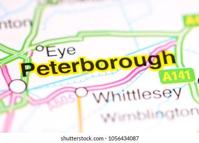 Peterborough. United Kingdom on a map