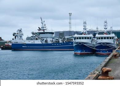 Peterhead, Aberdeenshire, Scotland. Circa 2018. Peterhead Harbour.