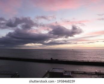 Peterhead North Sea Breakwater sunrise
