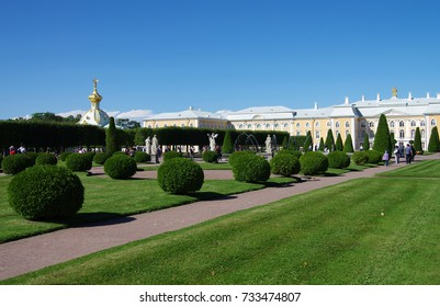 PETERHOF, RUSSIA - August, 2017: The Peterhof Grand Palace
