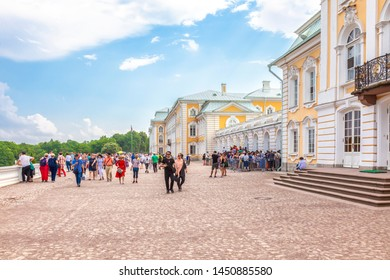 PETERHOF, RUSSIA - June 07.06: Entrance to the territory of the palace and park complex. Grand Peterhof Palace