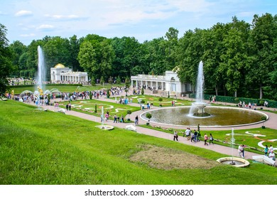 PETERHOF, SAINT PETERSBURG, RUSSIA - JUNE 23, 2011: Peterhof landscape view Famous world landmarks