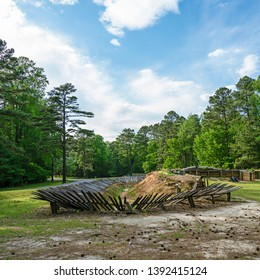 Petersburg, Virginai, USA - April 24, 2019 - Petersburg was the site of one of the last battles of the American Civil War and where American Doughboys got their trench warfare training for WWI