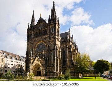 The Peterskirche in Leipzig near the city center is often used for several cultural events of different color.