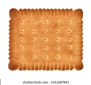 """"""" Petit beurre """": famous French biscuit isolated on white background"""
