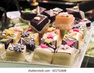 Petit Four in a bakery.