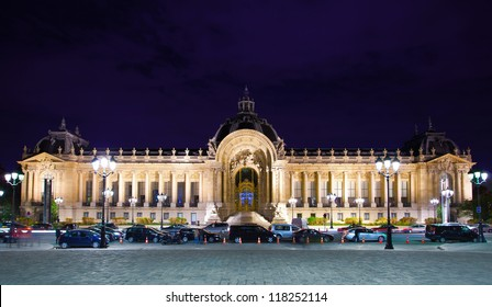 Petit Palais (Small Palace) in Paris at night