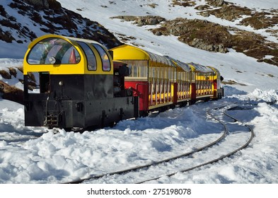 The Petit train d'Artouste is a narrow gauge tourist railway in the French Pyrenees.  - Shutterstock ID 275198078
