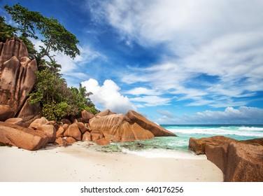 Petite Anse beach, La Digue, Seychelles