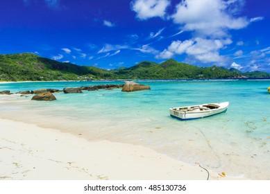Petite Anse - paradise beach on island Mahe, Seychelles
