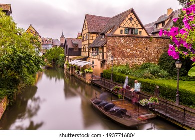 Petite Venise In Colmar in France on January 23th 2021
