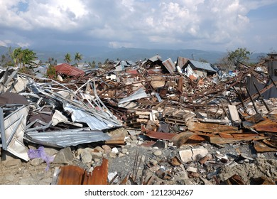 Petobo Village in Palu, On 28 September 2018, a shallow, large earthquake struck in the neck of the Indonesia, with its epicentre located in the mountainous Donggala, Central Sulawesi