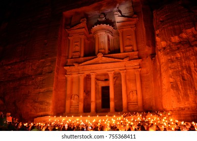 Petra by night show in Petra, Jordan
