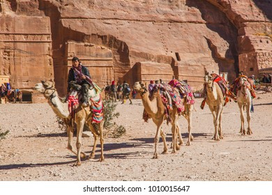 PETRA, JORDAN - DECEMBER 8, 2017: Petra, The ancient city in Jordan