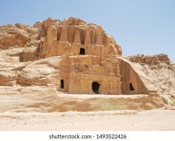 Petra ruins bab al siq triclinium and obelisk tomb (Jordan)